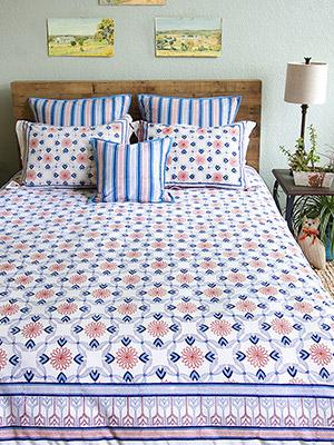 le chateau tile french country farmhouse rustic duvet cover