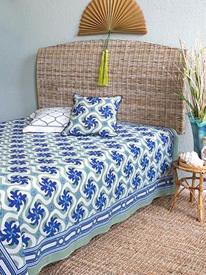 Coastal Currents ~ Ocean Beach Themed Tropical Floral Bedspread