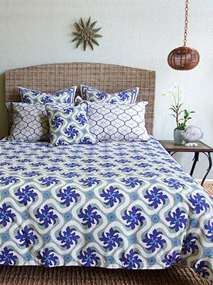 Coastal Currents ~ Ocean Beach Theme Tropical Floral Duvet Cover