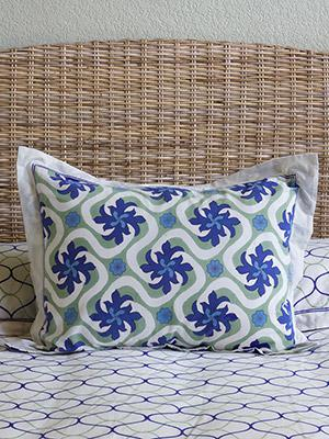 Coastal Currents ~ Ocean Beach Theme Tropical Floral Pillow Sham