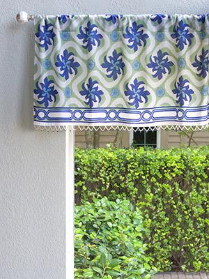 Coastal Currents ~ Ocean Beach Themed Tropical Floral Valance