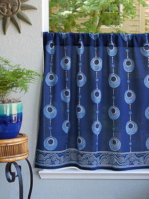 Celestial Embrace - Blue ~ Kitchen Curtain