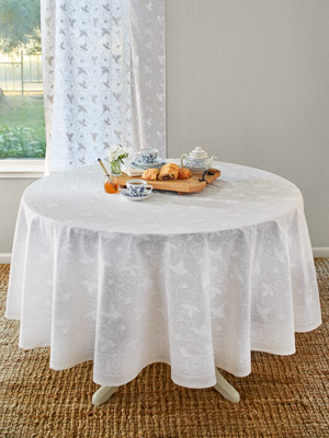 Ivy Lace ~ Elegant White Wedding Round Indian Table cloths