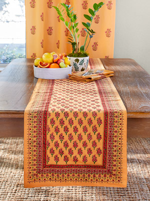 Indian Summer ~ Elegant Orange Table Runner