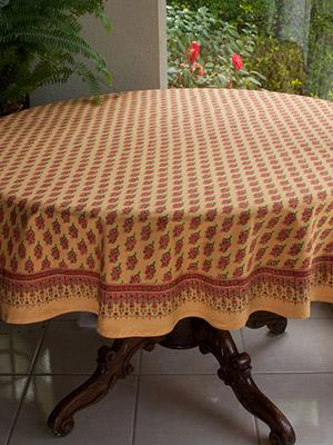 Indian Summer ~ Orange Round India Print Paisley Tablecloths