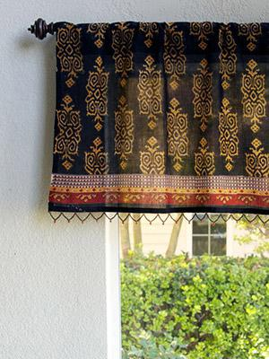 Designer Window Valances decorative designer elegant sheer fabric beaded window valance