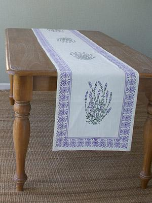 Lavender Dreams ~ Floral Spring White Table Runner