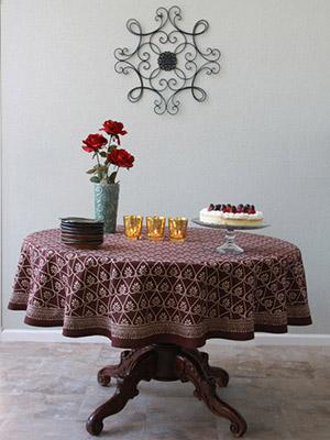 Charming For The Love Of Chocolate ~ Dark Brown Elegant Round Tablecloth
