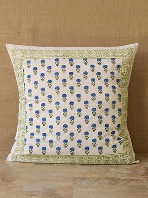 moonlit taj cp exotic turquoise floral euro pillow sham cover