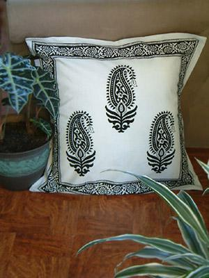 paisley au lait modern designer black u0026 white euro pillow sham