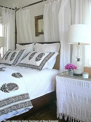 Paisley Au Lait ~ Designer Black and White Duvet Cover