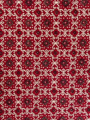 Ruby Kilim ~ Red and Black Fabric Swatch