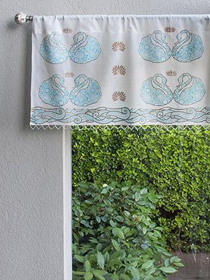 Decorative Designer Elegant Sheer Fabric Beaded Window