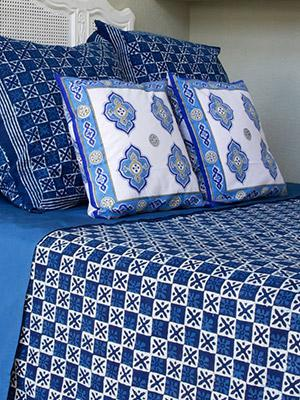 Starry Nights ~ Designer Blue Batik Contemporary Bedspread