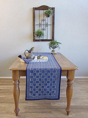 Starry Nights ~ Blue Batik Table Runner