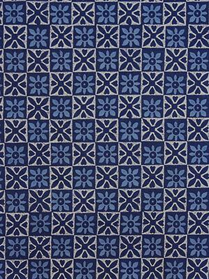 Starry Nights ~ Blue and White Fabric Swatch with Batik Styling