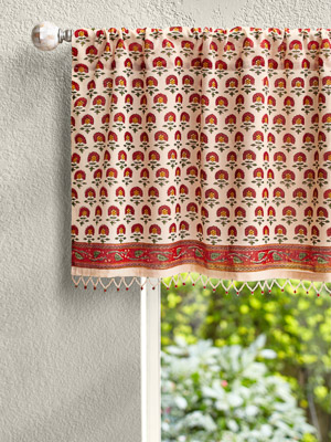 Tropical Garden (CP) ~ Cottage Colorful Beaded Window Valance