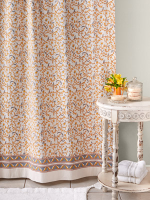 Gardens of Versailles ~ French Yellow Gold Shower Curtain