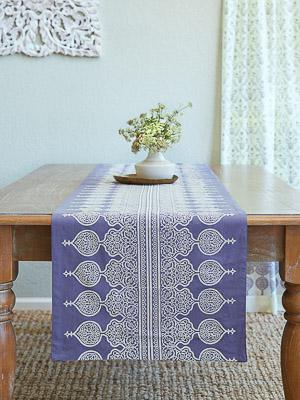 Victorian Lilac Lace ~ Bohemian Lavender Purple Table Runner