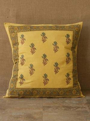 Waltz of the Vines (CP) ~ Yellow Floral Summer Beach Euro Sham
