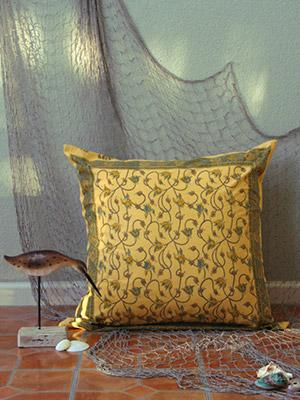 Waltz of the Vines ~ Yellow Floral Summer Beach Euro Pillow Sham