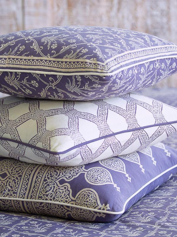 Purple Throw Pillow Cover Bohemian Saffron Marigold