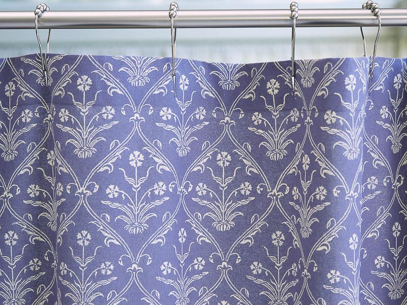 Purple shower curtain, Floral, Boho | Saffron Marigold