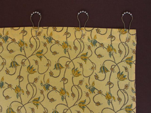 Floral Yellow Shower Curtain Summer Shower Curtain Beach Fabric Shower Curtain Saffron Marigold