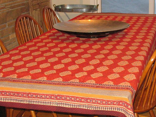 Genial Green Tablecloth, Indian Tablecloth, Asian Tablecloth, 90 Round Tablecloth,  70 Round Tablecloths   Saffron Marigold