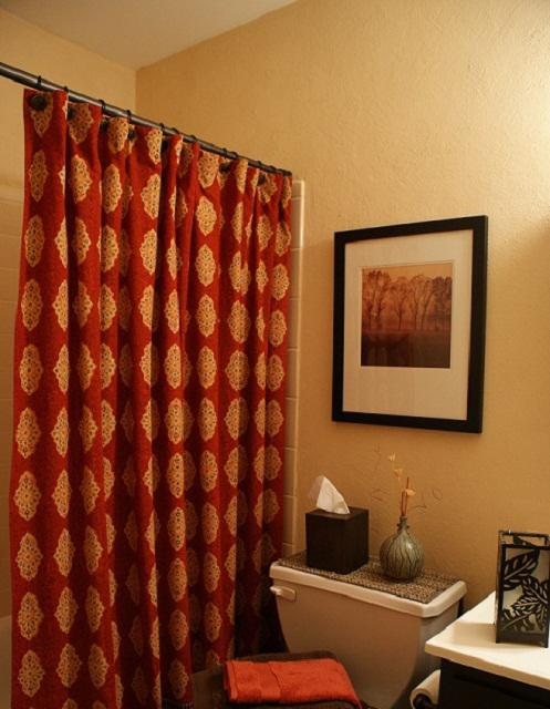 Red And Brown Shower Curtains - Best Curtain 2017