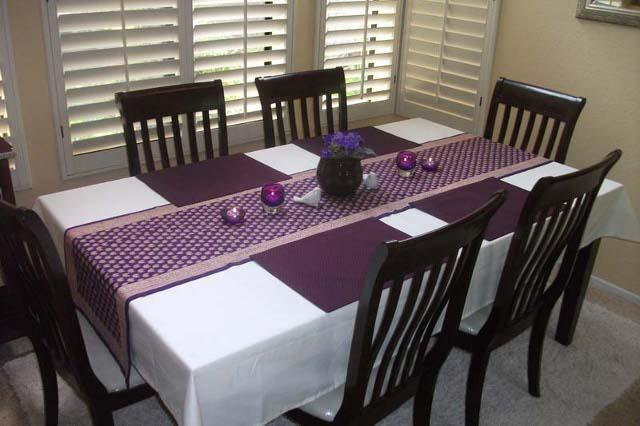 Charmant Purple Table Runner, Gold Table Runner, Luxury Table Runner | Saffron  Marigold