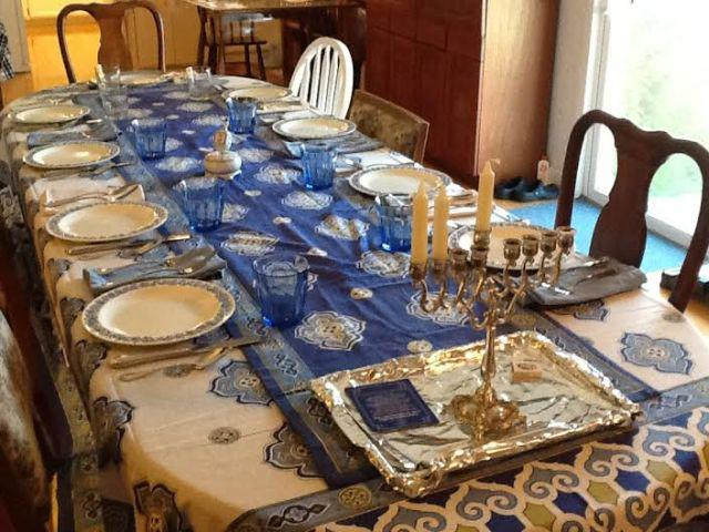 I Took A Photo Of Your Table Linens Set For Thankgiving / Hannukah With My  Momu0027s Antique Wedgewood Plates. The Table Was Perfect And Everyone Loved It.